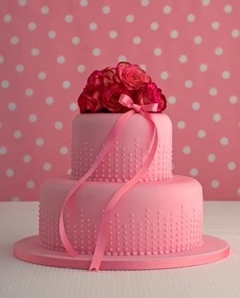 Champagne Bubbles Birthday Cake