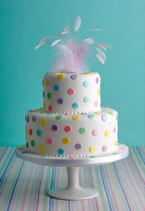 Dotty about you polka dot birthday cake