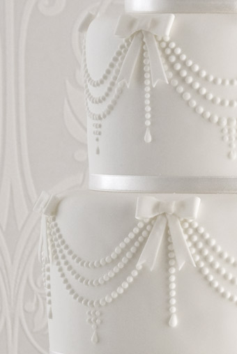 Chanel pearl wedding cake