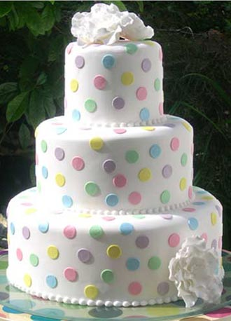 dots-wedding-cake