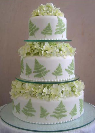 كيك أعراس greekfernweddingcake