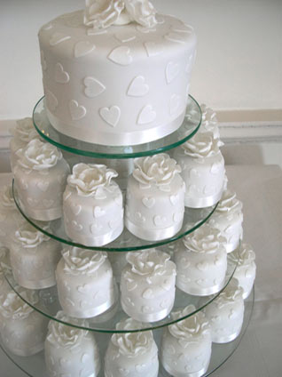 See more elegant wedding cupcake tree pictures here