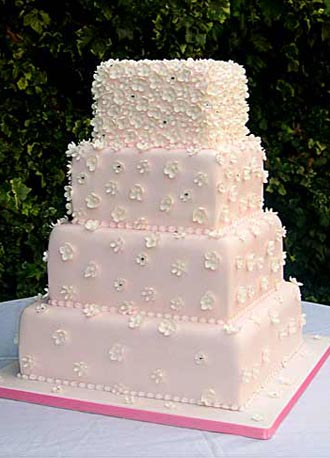 square wedding cake pictures