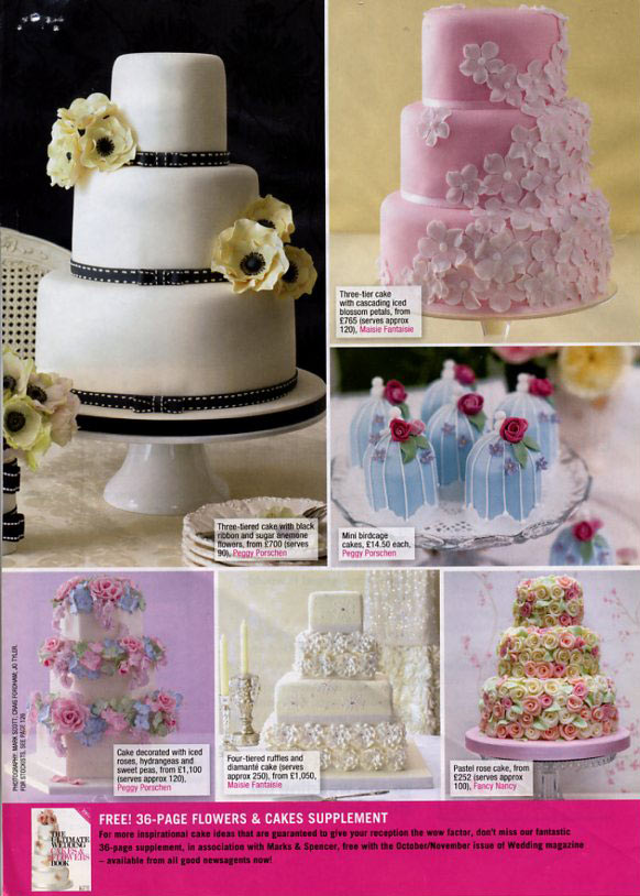 wedding flowers - white-on-pink-wedding-cake-feature